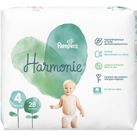 Pampers Harmonie Taille 4 9-14 kg 28 Couches
