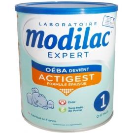 Modilac Expert 1 Actigest  Sans Huile De Palme 0-6 Mois 800 g