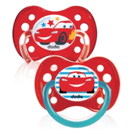 "Dodie Sucette Silicone + 6 mois Duo ""Cars"""