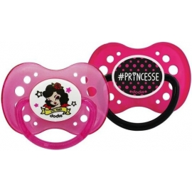 Dodie Sucette Anatomique Silicone + 6 mois Duo Fille