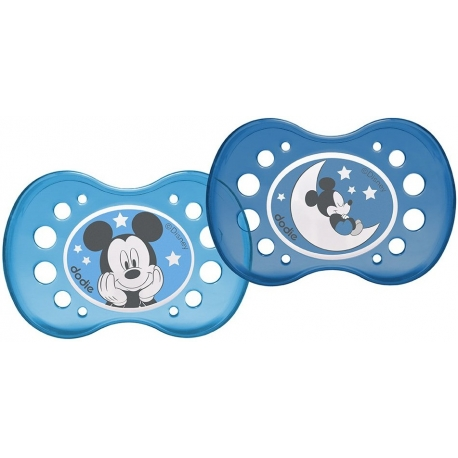 Dodie Sucette Anatomique Nuit +18m Mickey x 2