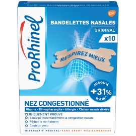Prorhinel Bandelettes Nasales Original x 10