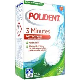 Polident Nettoyant Pour Appareils Ou Prothèses Dentaires 3 Minutes 66 Comprimés