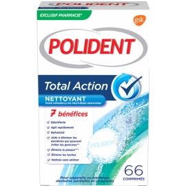 Polident Nettoyant Pour Appareils Ou Prothèses Dentaires Total Action 66 Comprimés