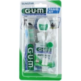 G.U.M Kit Voyage Brosse à dent + Dentifrice + Fil dentaire