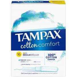 Tampax Cotton Comfort Tampon Avec Applicateur Régulier x 16