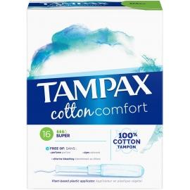 Tampax Cotton Comfort Tampon Avec Applicateur Super x 16