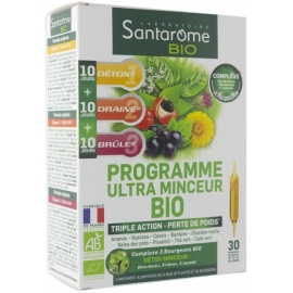 Santarome Bio Programme Ultra Minceur Bio 30 Ampoules