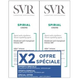 Svr Spirial Déodorant Anti-transpirant Crème 2 x 50 ml