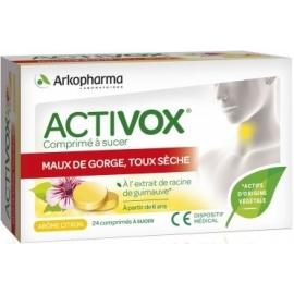 Arkopharma Activox Maux De Gorge, Toux Sèches 24 Comprimés