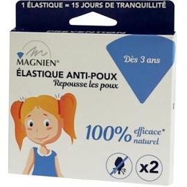 Magnien élastique Anti-Poux x 2