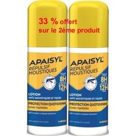 Apaisyl Répulsif Moustiques Lotion Anti-Moustiques & Tiques 2 x 90 ml 33 % Offert Sur Le 2ème Produit