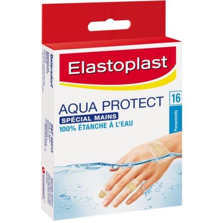Elastoplast Aqua Protect Spécial Mains Pansement x 16