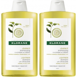 Klorane Capillaire Shampooing a la Pulpe de Cedrat 2 x 400 ml