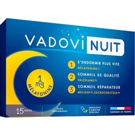 Vadovi Nuit 1 mg mélatonine 15 Gélules