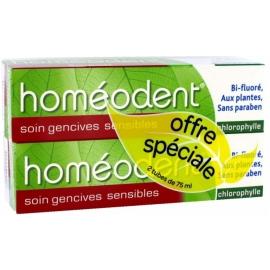 Homéodent Soin Gencives Sensibles Dentifrice Chlorophylle 2 x 75 ml