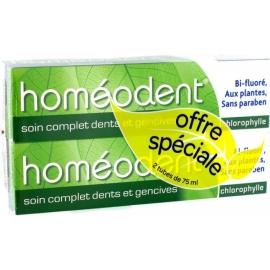 Homéodent Soin Complet Dents Et Gencives Dentifrice Chlorophylle 2 x 75 ml