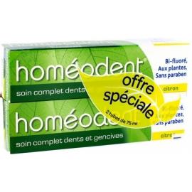 Homéodent Soin Complet Dents Et Gencives Dentifrice Citron 2 x 75 ml