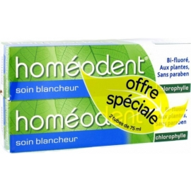 Homéodent Soin Blancheur Dentifrice Chlorophylle 2 x 75 ml