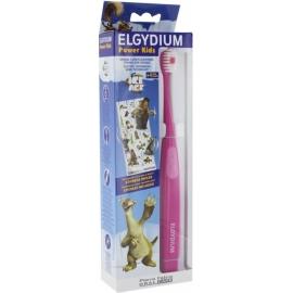 Elgydium Power Kids Brosse à Dents électrique L'âge De Glace Rose