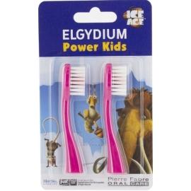 Elgydium Power Kids Recharge Pour Brosse à Dents électrique L'âge De Glace Rose x 2