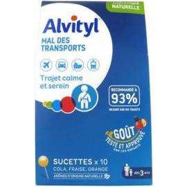 Alvityl Mal Des Transports Sucettes x 10