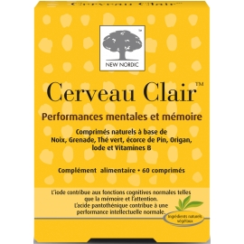 New Nordic Cerveau Clair 60 Comprimés
