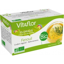 Vitaflor floralis tisane Bio Fenouil 18 Sachets