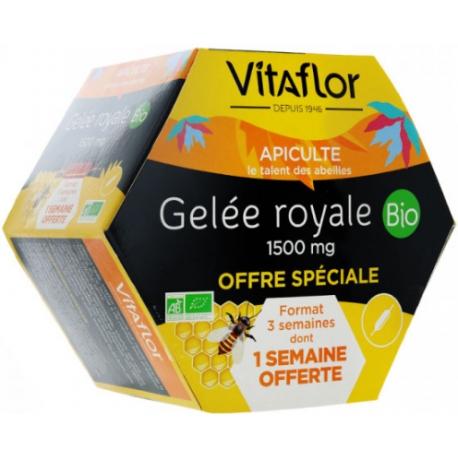 Vitaflor Gelée Royale Bio 1500 mg Boites de 20 ampoules
