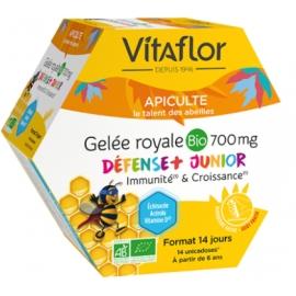 Vitaflor Apiculte Gelée Royale Bio 700 mg Défense+ Junior 14 Unicadoses