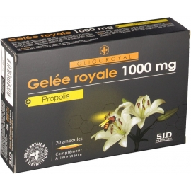 SID Nutrition Oligoroyal Gelée Royale 1000mg + Propolis 20 Ampoules