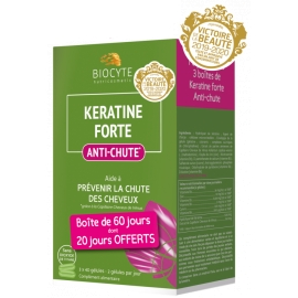 Biocyte Nutricosmetic Keratine Forte Anti-Chute 120 Gélules