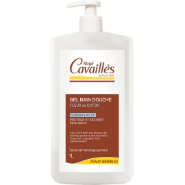 Roge Cavailles Gel bain et douche Surgras Actif Fleur de Coton 1l