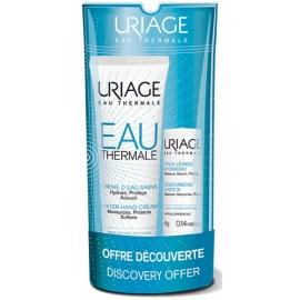 Uriage Kit Découverte Crème d'Eau Mains 30 ml + Stick Lèvres 4g