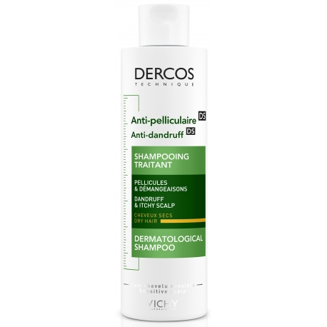 Vichy Dercos Anti-pelliculaire Shampooing Traitant Cheveux Secs 200ml
