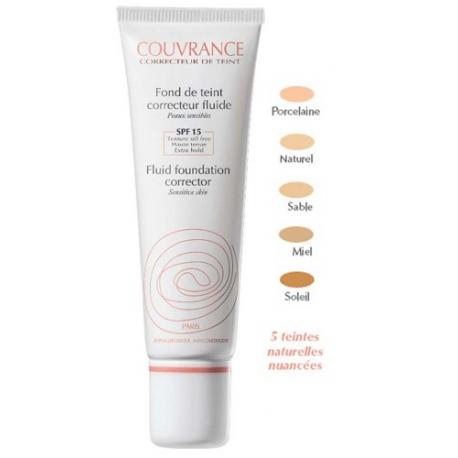 Avène Couvrance Fond de Teint Correcteur Fluide Soleil  30 ml
