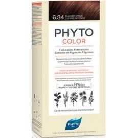 Phyto Phytocolor Coloration Permanente 6.34 Blond foncé Cuivre Intense