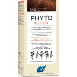Phyto Phytocolor Coloration Permanente 7.43 Blond Cuivre Doré