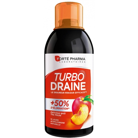 Forte Pharma Turbodraine Goût Thé Vert - Pêche 500 ML