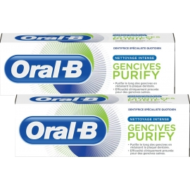 Oral-B Dentifrice Gencives PURIFY Nettoyage Intense 2 x 75 ml