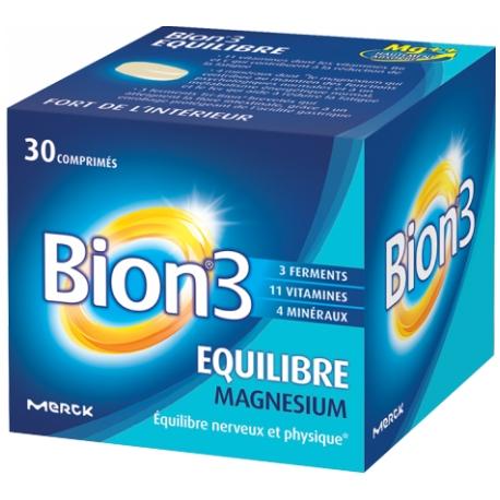 Bion3 équilibre magnésium 30 comprimés