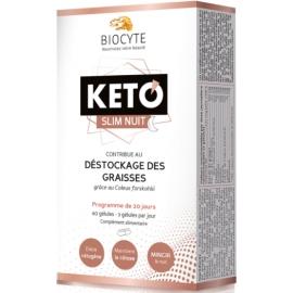 Biocyte Keto Slim Nuit Déstockage Des Graisses 60 Gélules
