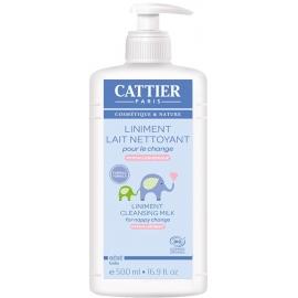 Cattier Bébé Liniment Lait Nettoyant Bio 500 ml