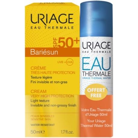 Uriage Bariésun SPF 50+ Crème 50 ml + Eau Thermale 50 ml offerte
