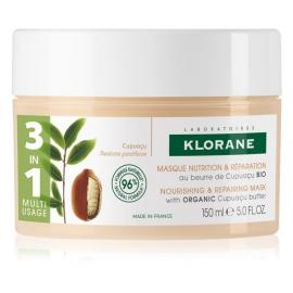 Klorane Capillaire Masque 3 En 1 Au Beurre De Cupuaçu Bio 150 ml