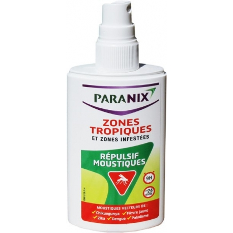 Paranix Répulsif Moustiques Zones Tropiques Et Zones Infestées 90 ml