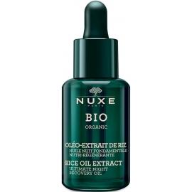 Nuxe Bio Oléo-Extrait De Riz Huile Nuit Fondamentale Nutri-Régénérante 30 ml
