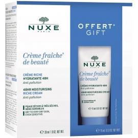 Nuxe Coffret Crème Fraîche De Beauté Crème Riche Hydratante 48 H 30 ml + Format 15 ml Offert