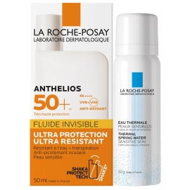 La Roche-Posay Anthelios Spf 50 Fluide Invisible 50 ml + Eau Thermale 50g offerte