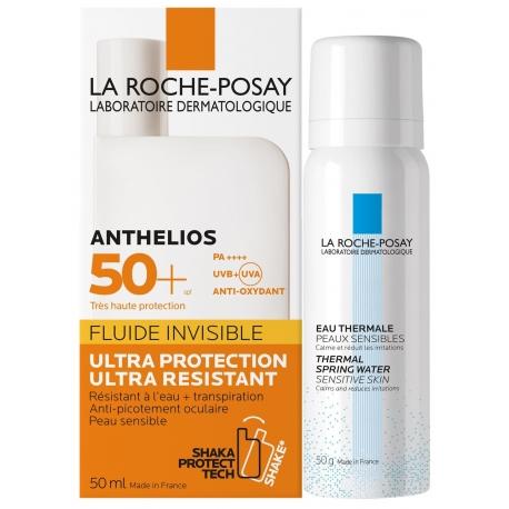La Roche-Posay Anthelios Spf 50 Fluide Invisible 50 ml + Eau Thermale 50g offerte